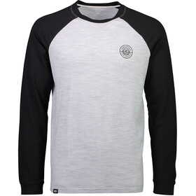 Mons Royale M's Icon Raglan LS Black/Grey Marl